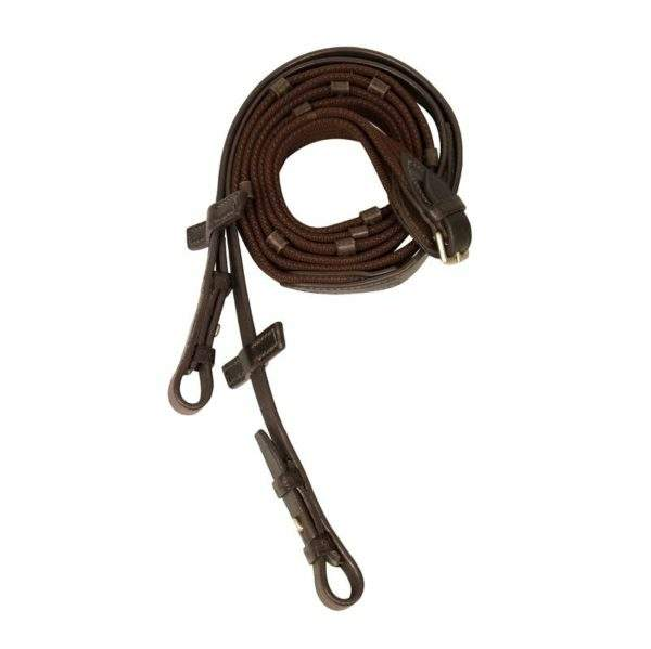 Stübben Standard Web Reins narrow with 5 stops and hook studs - SALE