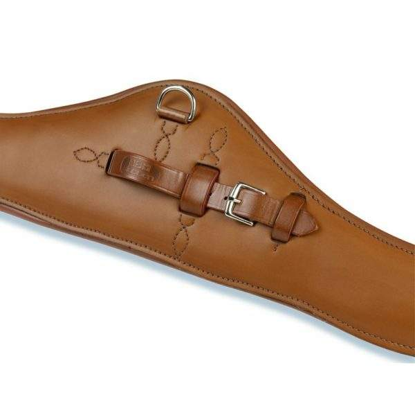 Stubben Leather Girth Contour with elastic ends