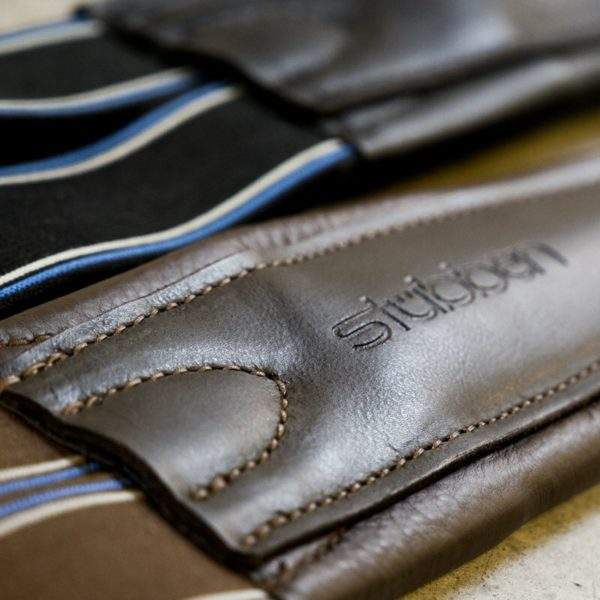 Stubben Leather Girth  with elastic ends