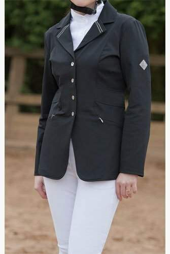 John Whitaker Show Jacket with Crystal Collar
