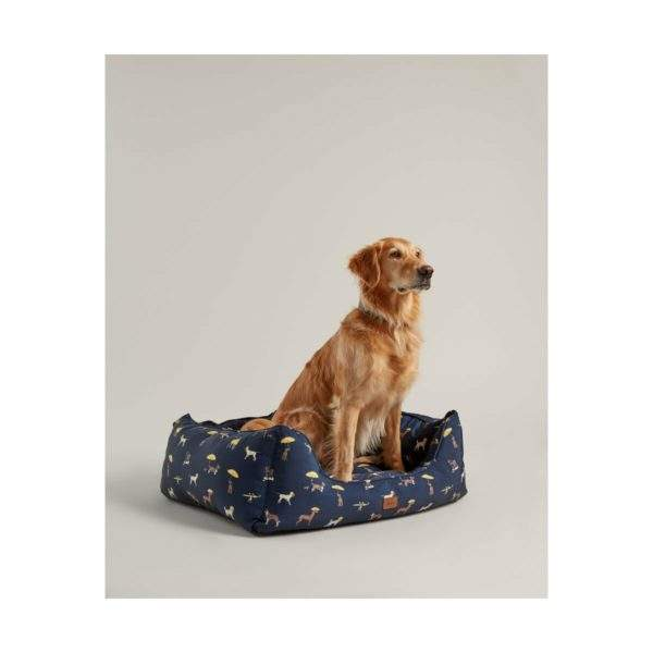 Joules Dog Print Box Bed - SALE