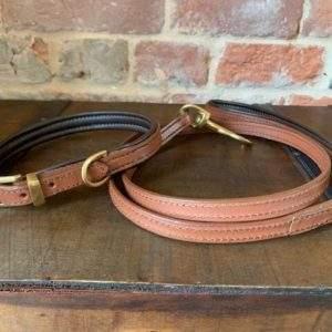 Elite Premium Tan Padded Collar / Plain Lead
