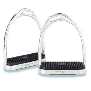 Stubben Fillis Stirrup Irons, double offset style