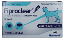 Fiproclear Spot-On for Medium Dogs 10-20kg