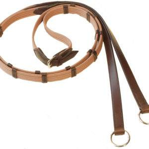 Stubben Web Reins with 9 leather stops and rings