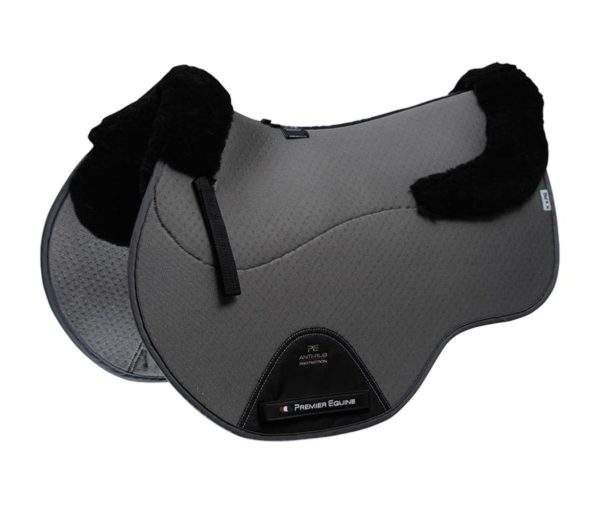 Premier Equine Airtechnology Shockproof Wool European Saddle Pad - GP/Jump Square