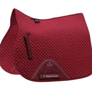 Premier Equine Plain Cotton Saddle Pad - GP/Jump Square
