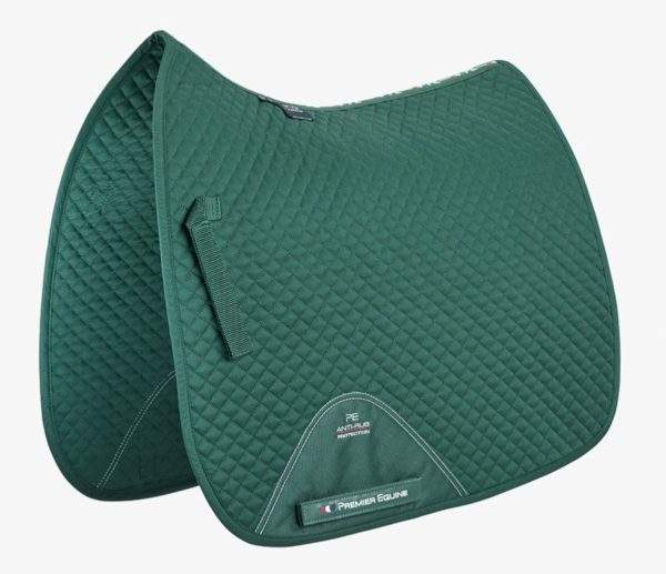 Premier Equine Plain Cotton Saddle Pad - Dressage Square