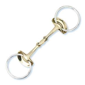 Stubben Golden Wings Loose Ring Snaffle, double-broken
