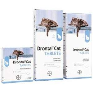 Drontal Cat Ellipsoid Tablets