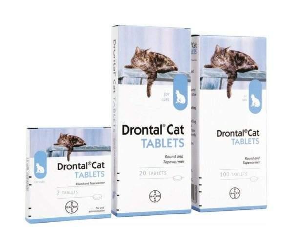 Drontal Cat Ellipsoid Tablets