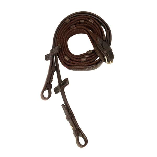 Stübben Standard Web Reins narrow with 5 stops and hook studs