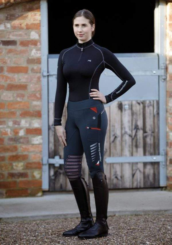 Premier Equine Rexa Ladies Gel Knee Pull On Riding Tights