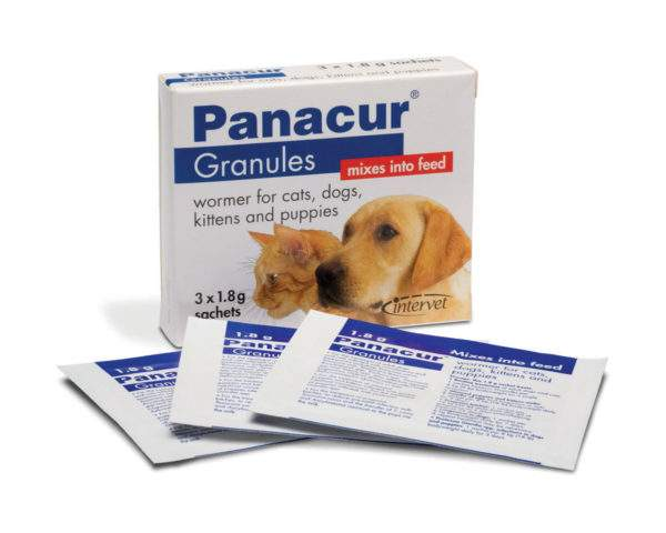 Panacur Granules for Dogs & Cats - 22% granules