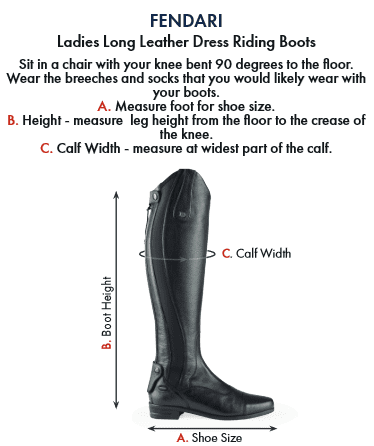 Premier Equine Fendari Ladies Long Leather Dress Riding Boot