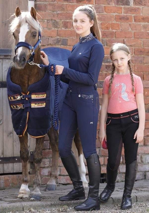 Premier Equine Sassa Kids Full Seat Gel Riding Breeches