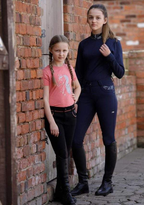 Premier Equine Scintillare Kids Full Seat Gel Riding Breeches