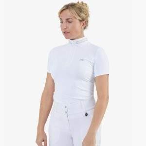 Premier Equine Maria White Diamante Show Shirt