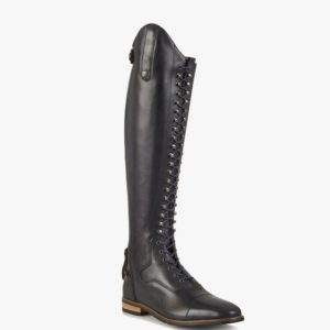 Premier Equine Maurizia Ladies Lace Front Tall Navy Leather Riding Boots